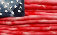 Our tie dye scarves as the star spangled banner for the 4th July.