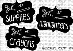Flipped Signs (Supply Labels) from LadybugsTeacherFiles Shop - | Teachers Notebook