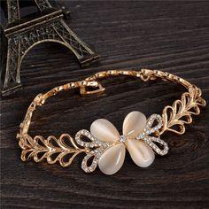 hot sale bijoux CZ Bracelet Austria Charm pulseira bracelets for women wholesale jewelry Butterfly Sharp hot