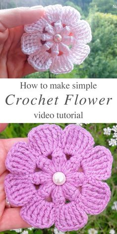 Latest Crochet Flower With Free Video Patterns - Latest Fashion Trend These crochet simple flowers are creative and decorative for so many projects. This crochet flower makes the perfect embellishment for accessories! Gilet Crochet, Crochet Motif, Knit Crochet, Crochet Patterns, Crochet Stars, Crochet Ideas, Thread Crochet, Crochet Crafts, Crochet Projects