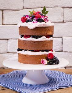 Mini Naked Cake de Coco com Creme de Framboesa – Bolo Pelado   Vídeos e Receitas de Sobremesas