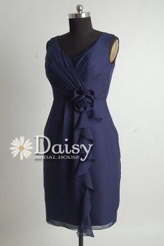 I am loving the idea of a navy blue wedding dress. And I love this one-TG Custom Plus Size Bridesmaid Dress DressNavy by DaisyBridalHouse