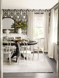 Love black and white decor with a splash of color