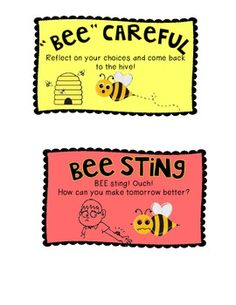 Bee-havior chart for my soon to be classroom I love the descriptions!