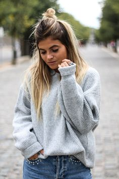 Loose sweater & denim - Marie and Mood - Blog mode lifestyle