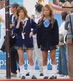 Pin by Kim Proesel on Gyaru in 2019 Japanese Gangster, Tomboy Hairstyles, Gyaru Fashion, Japanese School Uniform, Girl Outfits, Fashion Outfits, Japanese Aesthetic, Japan Girl, Japanese Street Fashion