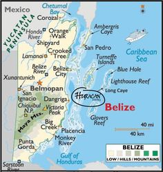 All over the country of Belize