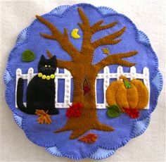REVERSIBLE Fall/Winter #2 Candle Mat Kit  Click on it and see the other side!!!!  ; )