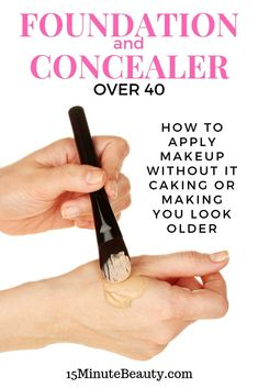 The best tips for how to apply makeup when you are over Cover up undereye ci. - - The best tips for how to apply makeup when you are over Cover up undereye circles with concealer and apply foundation without caking Base Makeup F. Makeup Tips Over 40, Makeup Tips For Older Women, Makeup Tips In Your 40s, Foundation Routine, How To Apply Foundation, Flawless Foundation Application, Makeup Tutorial Foundation, Foundation Primer, Makeup Foundation