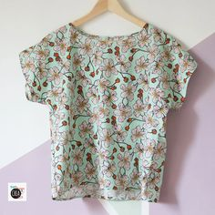 Sewing Techniques, Sewing Clothes, Floral Tops, Diy, Couture, Pattern, Women, Hobby, Fashion