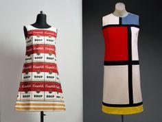 "Andy Warhol, Souper Dress (1964) Piet Mondrian, ""Mondrian"" Day Dress (1965) luv them! <3"