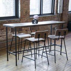 """Urban Wood Goods Dining Table Top Finish: Walnut, Size: 36"""" H x 36"""" W x 84"""" L"""