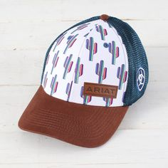 Ariat Cactus Cap - I love this hat! Country Fashion, Country Outfits, Country Girls, Country Hats, Summer Outfits, Cute Outfits, Swag Outfits, Cowgirl Style, Cowgirl Fashion