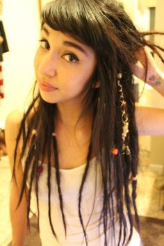 bangs with dreads
