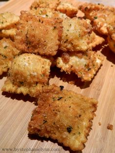 Fried Ravoli - I have made something similar with Bowtie pasta and a marinara dipping sauce. AWESOME