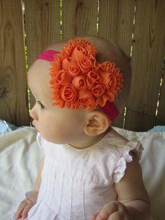 Ruffle baby headband.