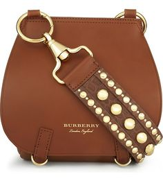 BURBERRY - Studded strap leather shoulder bag | Selfridges.com