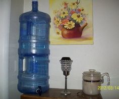 Water purification system using 2 5-gallon water jugs, and Berkey ceramic water filter cartridges.  Spigot sold separately too.