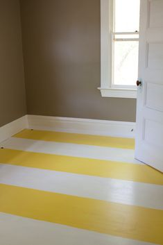 fresh and fun striped floors