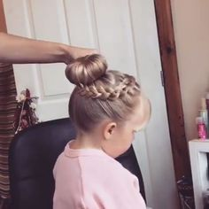 Gorgeous Little Girl Hairstyles Gorgeous Dance Hairstyles, Flower Girl Hairstyles, Braided Hairstyles, Cute Little Girl Hairstyles, Simple Hairstyles For Girls, Hairstyles For Toddlers, Flower Girl Updo, Gymnastics Hairstyles, Easy Toddler Hairstyles