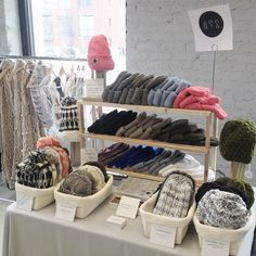 Stop by our table today at the HoliDose Market today 10-5! #Aporta #aportatextiles #dosemarket #holidose #beanie #scarf #wallhanging #shopping #chicago #knitting #knit #yarn #weaving #woven #wool #design #designer #textiles #market #handmade