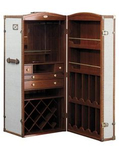 Surcouf Steamer Trunk bar cabinet from DDC, ddcnyc.com