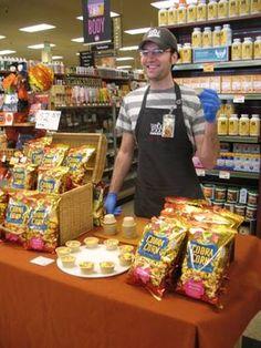 Devin enjoyed sharing samples of Cobra Corn Mumbai Masala on Columbus Day with shoppers at Whole Foods Market Santa Rosa, California. #wholefoods