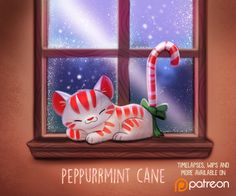 Daily Paint 1489. Peppurrmint Cane by Cryptid-Creations Time-lapse, high-res and WIP sketches of my art available on Patreon (:Twitter • Facebook • Instagram • DeviantART