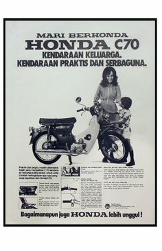 Honda C 70 Henny Poerwonegoro Motorcycle PostersMotorcycle