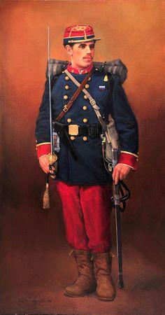 Los Héroes de la Concepción - Metro de Santiago American Uniform, Native American History, American Civil War, Army Uniform, Military Uniforms, War Of The Pacific, Uniform Insignia, French Army, American Revolution