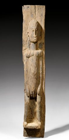 Africa | Post from a 'togu na' or door panel, from the Dogon people of Mali | Wood