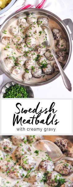 Swedish Meatballs with Creamy Gravy | eatlittlebird.com