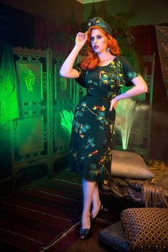 Pinup Couture Butterfly Leaves Dress 102 39 39 17830 20160317 3