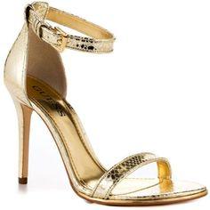 Guess Shoes Oderan 2 - Gold LL Aldo Shoes, Steve Madden Shoes, Shoes Names, Jessica Simpson Shoes, Guess Shoes, Party Shoes, Shoe Brands, Ankle Strap, Stiletto Heels