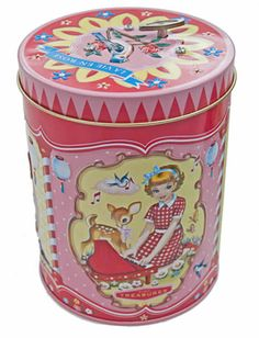 WU & WU Music Tin with Stunning Retro Illustartions by Fiona Hewitt | BellaKoola | Cool Stuff & Design Gifts to Buy at BellaKoola.com