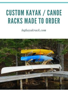 No matter what board, raft, or boat is between you and the water Log Kayak Rack can create a custom designed storage system for it. Unfortunately, it is unrealistic to stay on the water indefinitely but when it's time to come in you can be assured that your watercraft of choice is safe, staying clean and ready for you when you're ready for it. #kayak #logkayakrack Canoe Storage, Outdoor Storage, Northern White Cedar, Kayak Rack, Cedar Log, Small Boats, Wakeboarding, Water Crafts, Paddle Boarding