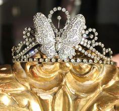 Vintage Butterfly Tiara by Alena Zubko