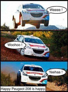 Happy #Peugeot is Happy. #JustForFun #CarMeme #Humor