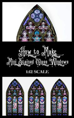 How to Make Miniature Stained Glass Windows Stained Glass Angel, Stained Glass Lamps, Stained Glass Windows, Dollhouse Windows, Haunted Dollhouse, Dollhouse Miniatures, Castle Dollhouse, Dollhouse Ideas, Diy Resin Crafts