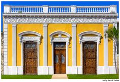 Ornate Wooden Doors Mérida Mexico Art by Mark E Tisdale