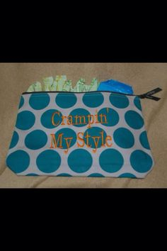 Thirty-one zipper pouch ... Great bag to hold your lady items on the go.Www.mythirtyone.com/janelleg