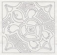 Mola Turtle Design