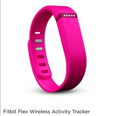 """Fitbit Flex Activity Tracker I have two brand new bands....grey blue and pink....each size LARGE!  I thought the """"brain"""" broke but it is the charger!  Not sure what is wrong with it.....I will ship it too if you like to try and fix things. I used this for a year and when I thought it broke...I bought a brand new one!  LMK if you have questions! Fitbit Jewelry Bracelets"""