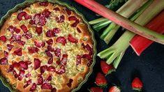 Jahodovo-rebarborový koláč s kokosem Foto: