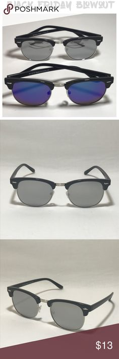 Mirrored Lens Browline Sunglasses Duo ‼️Black Friday Duo Special! ‼️  No offers allowed on Black Friday Specials.  Prices are firm!  Does not qualify for Buy one Get one 50% Off Sale!  ✅ 2 Pairs of Browline Sunglasses    ▪️2 Black/Silver Frames    ▪️1 Silver Mirror Lenses    ▪️1 Green/Blue Mirror Lenses    ▪️Unisex Style    ▪️High Quality    ▪️Includes 2 FREE Microfiber Sunglasses Pouches  🕐 All orders ship within 24 hours of Purchase Monday- Saturday.  Orders on Holidays/Sunday's ship next…