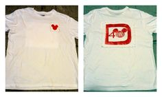 A Couple of Craft Addicts: Men's Freezer Paper Disney Shirt