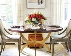 Elegant, woodland accent plate for Thanksgiving table by Ballard Designs