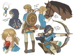link and the legend of zelda-bild
