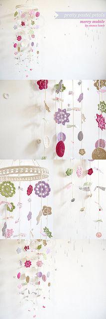 pretty pastel petals mobile by emma lamb, via Flickr