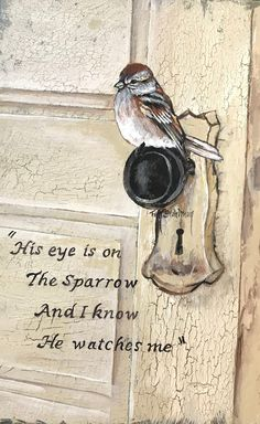 His Eye is on the Sparrow | Etsy Bible Verse Art, Bible Verses Quotes, Bible Scriptures, Scripture Painting, Bibel Journal, Happy Sunday Quotes, Spiritual Inspiration, His Eyes, Christ
